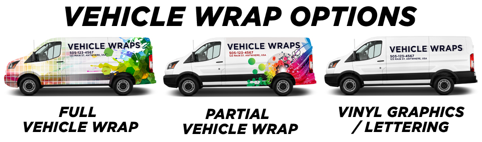 Redmond Vehicle Wraps vehicle wrap options